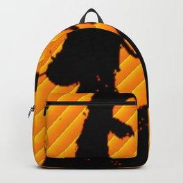 Ms.Gomez yellow art print Backpack