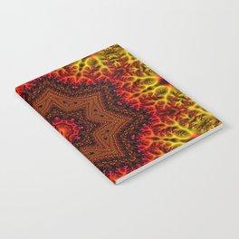 Fiery Fractal Mandala 2 Notebook