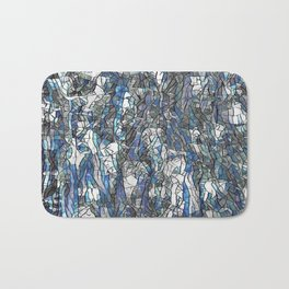 Abstract blue 2 Bath Mat