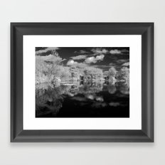 Dark reflections. Framed Art Print
