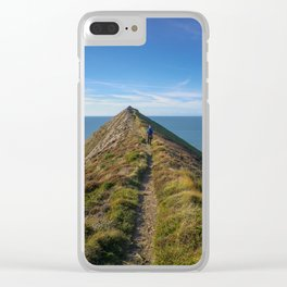 HIGHER SHARPNOSE POINT MORWENSTOW CORNWALL Clear iPhone Case