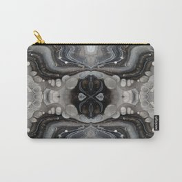 Black and Silver Mirror Digital Art Design Carry-All Pouch