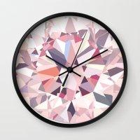 diamond Wall Clocks featuring diamond by Kazuma Shimizu