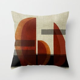 """""""Abstract Ships at Sunset"""" Throw Pillow"""