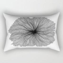 Jellyfish Flower B&W Rectangular Pillow