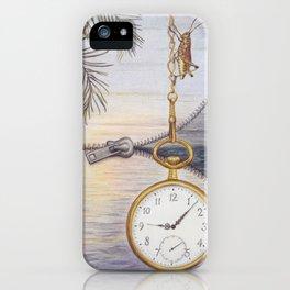 High Tide by Lars Furtwaengler | Colored Pencil | 2012 iPhone Case