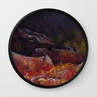 smaug Wall Clocks featuring Smaug  by Chiara Martinelli Creations