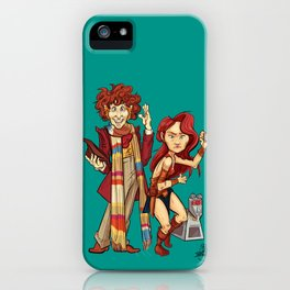 The Doctor, The Warrior, and K-9 iPhone Case
