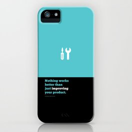 Lab No. 4 - Just improving your product Joel Spolsky Corporate Startup Quotes Poster iPhone Case