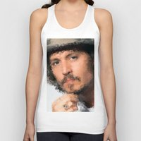johnny depp Tank Tops featuring Johnny Depp by lauramaahs