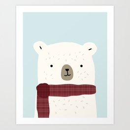Bundled Bear Art Print