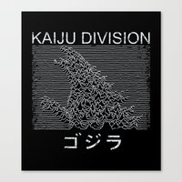 kaiju Canvas Prints featuring Kaiju Division by Pigboom Art