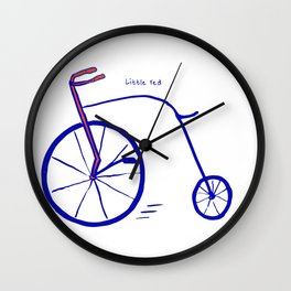 Little Red Bike Wall Clock
