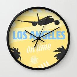 Los Angeles Y/B Wall Clock
