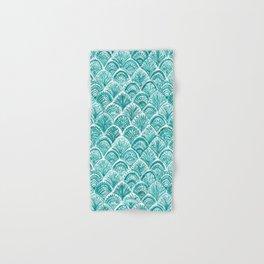 AQUA LIKE A MERMAID Fish Scales Hand & Bath Towel