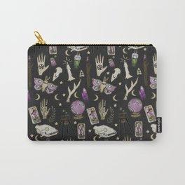 WITCH pattern • in black salt Carry-All Pouch