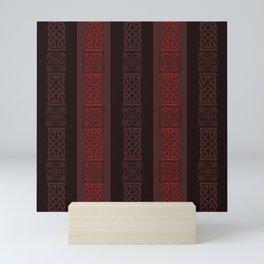 Viking dark red Mini Art Print