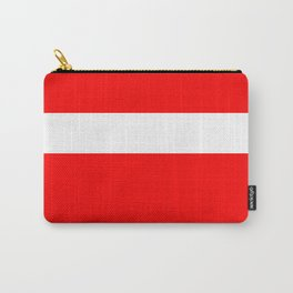 White stripe on red Carry-All Pouch