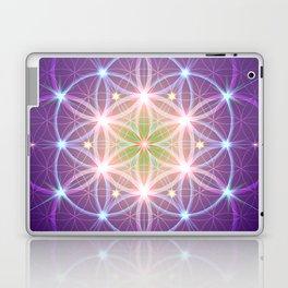 Purple Flower of Life Laptop & iPad Skin