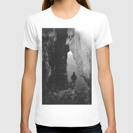 Through the Looking Glass - Black and White Photograph in taken in Oregon T-shirt