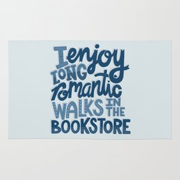 Long Romantic Walks Bookstore BLUE Rug