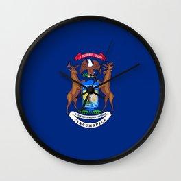 flag michigan,america,usa,great lakes,detroit,Michigander,yooper,Lansing,winter wonderland,Wolverine Wall Clock