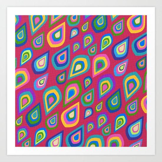 Summer Rain on Magenta Art Print