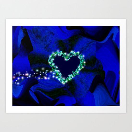 Heart and Stars Art Print