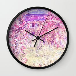 Monet : The House Among the Roses Wall Clock
