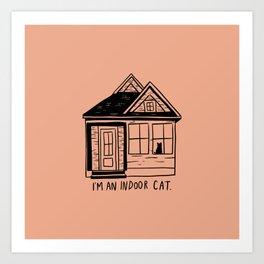 Indoor Cat (house) Art Print