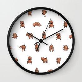 Wooferland: Wooferdog pattern Wall Clock