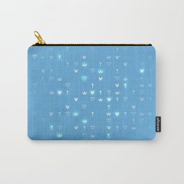 Kingdom Hearts Blue Pattern Carry-All Pouch