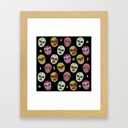 Máscaras (black background) Framed Art Print