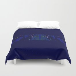Cows At Midnight Duvet Cover