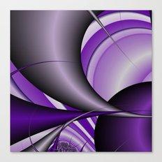Purple thorn fractal Canvas Print