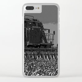 Black & White Cotton Harest Pencil Drawing Photo Clear iPhone Case