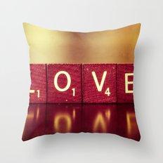 Love is a Beautiful Word II Throw Pillow