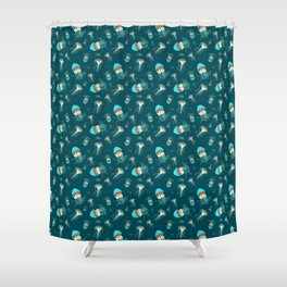 Flow jellyfishes Shower Curtain