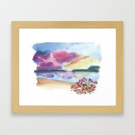 lake powell // utah arizona watercolor landscape Framed Art Print