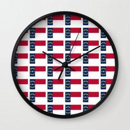 flag of  north carolina 2- south,america,usa,Old North State,Tar Heel,North Carolinian,Charlotte Wall Clock