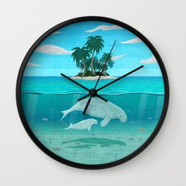 Manatee Island Wall Clock