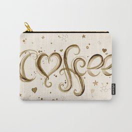 Coffee Molecules Caffeine Carry-All Pouch