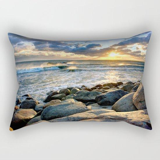 Sea Rocks Rectangular Pillow