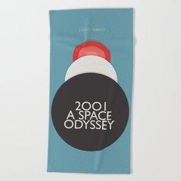 2001 a Space Odyssey - Stanley Kubrick, minimal movie poster, rétro film playbill, sci-fi Beach Towel