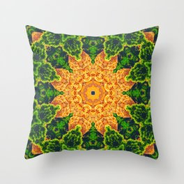 Mystic Desert Mandala Throw Pillow