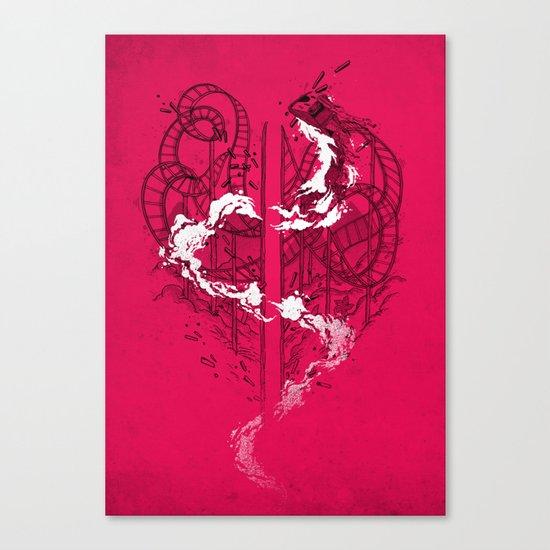 Coaster Catastrophe Canvas Print