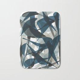 Abstract Whale Monotone Bath Mat