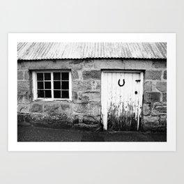 Lucky Scottish Door Art Print