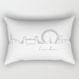 Pen line silhouette London Rectangular Pillow