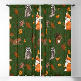 Critters pattern green Blackout Curtain